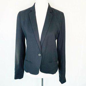 J.CREW Suit Jacket Black Notch Lapel Lined Wool 6